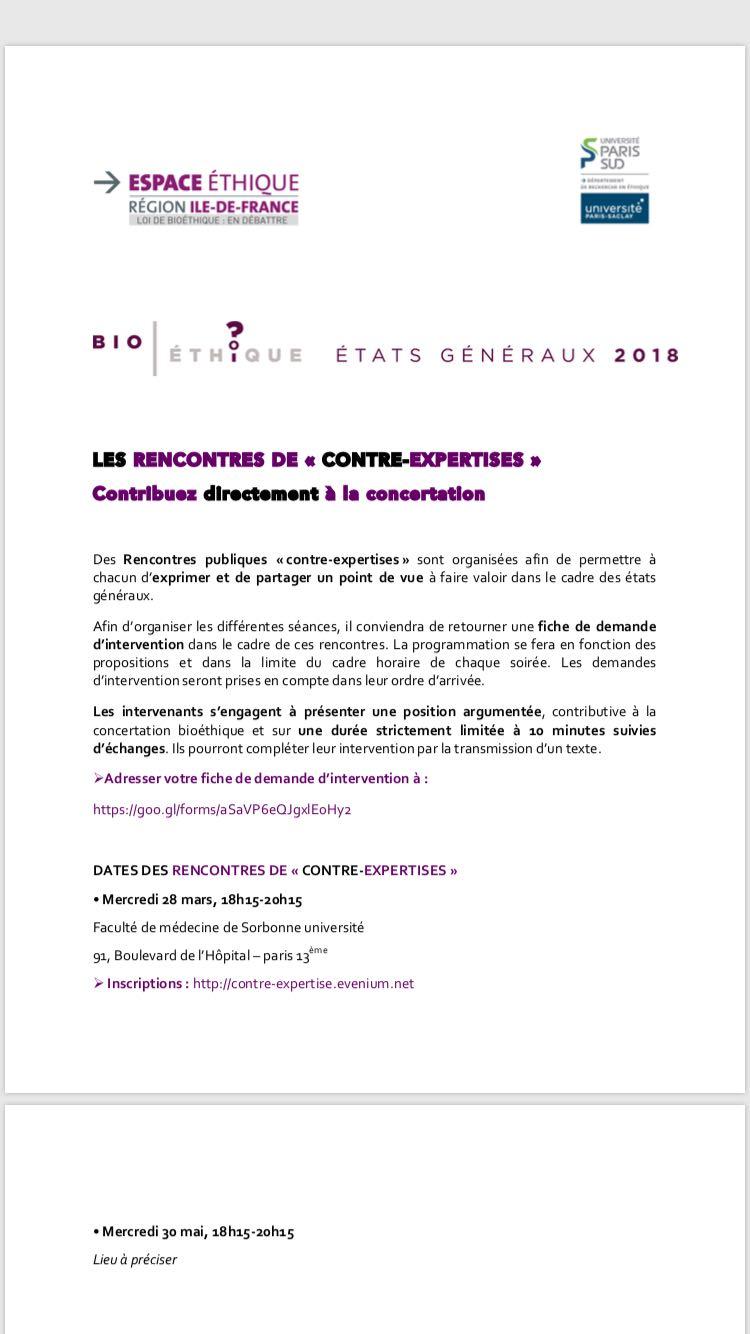 Rencontre de bioéthique @ Faculté de médecine de Sorbonne université | Paris | Île-de-France | France