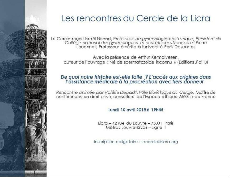 Les rencontre du Cercle de la Licra @ Licra | Paris | Île-de-France | France